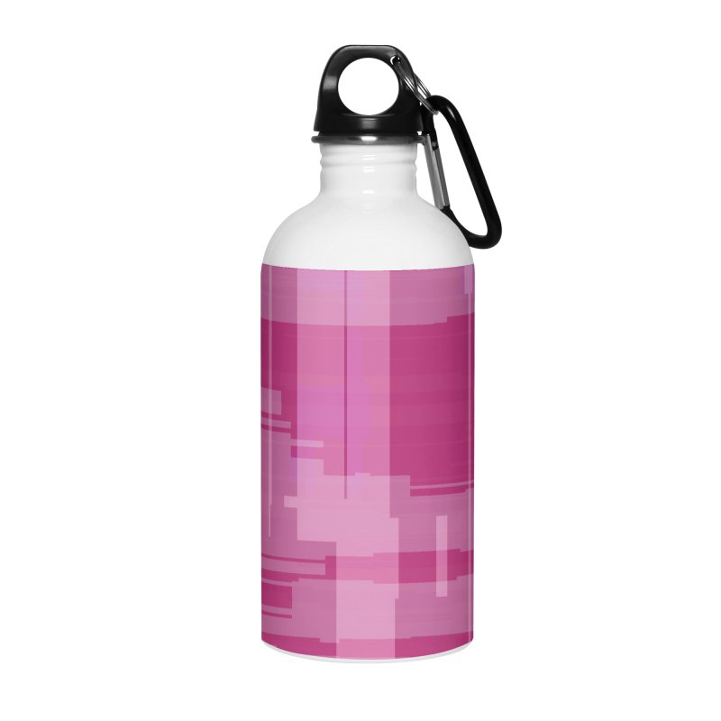 pink abstract Accessories Water Bottle by Christy Leigh Creative