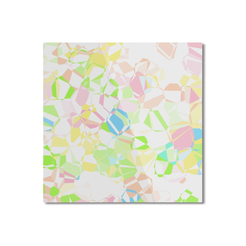 Pastel abstract Home Mounted Aluminum Print by Christy Leigh Creative