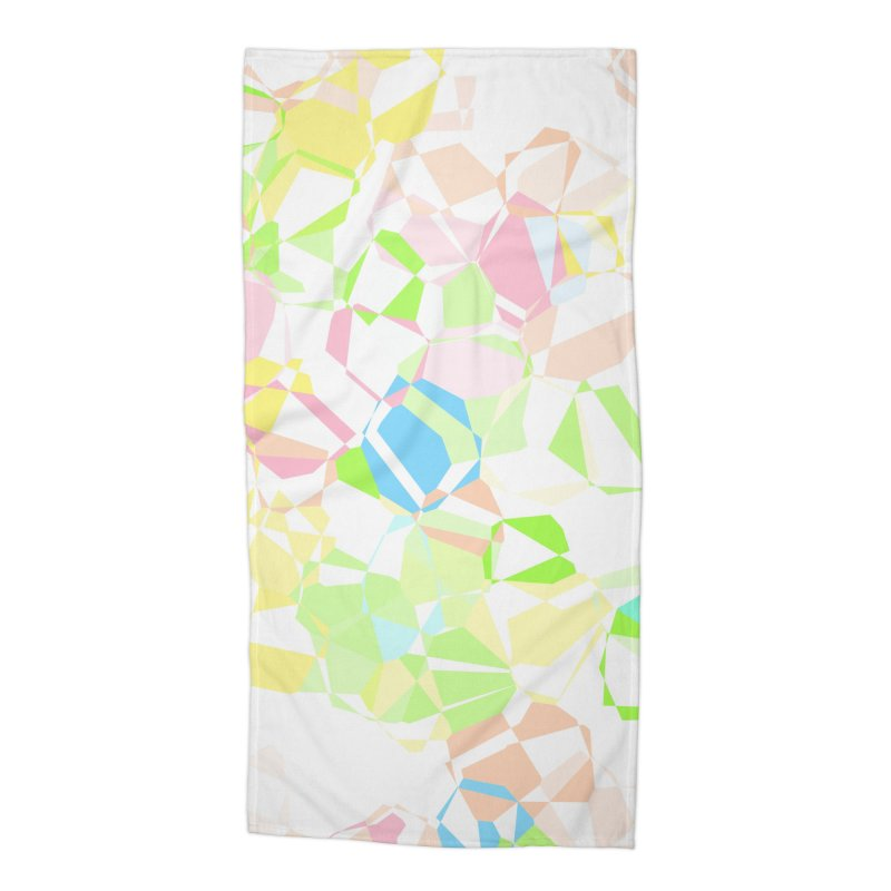 Pastel abstract Accessories Beach Towel by Christy Leigh Creative