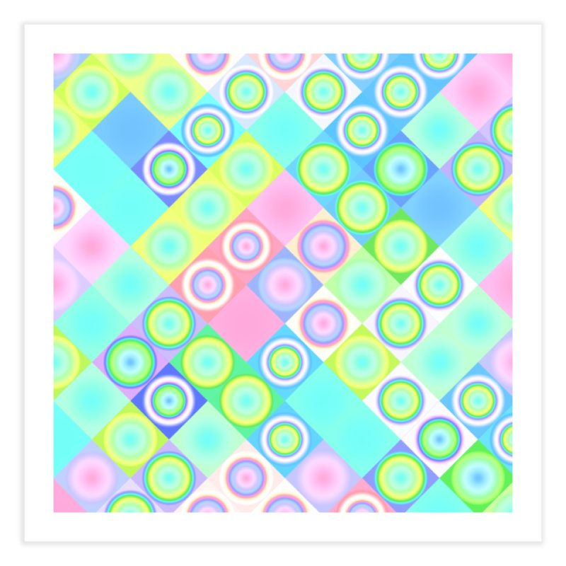 circles and squares Home Fine Art Print by Christy Leigh Creative