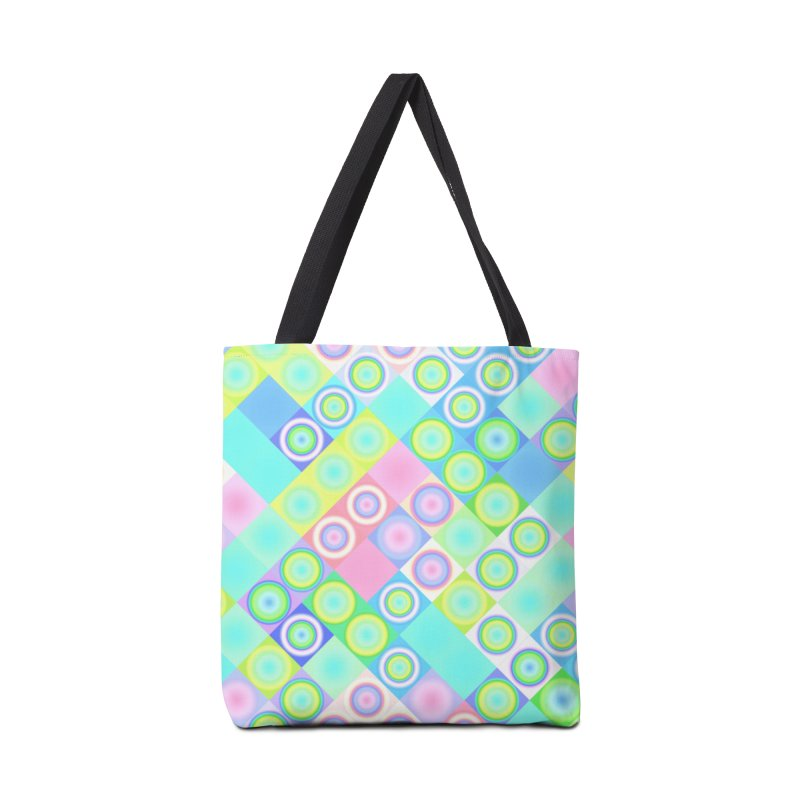 circles and squares Accessories Bag by Christy Leigh Creative
