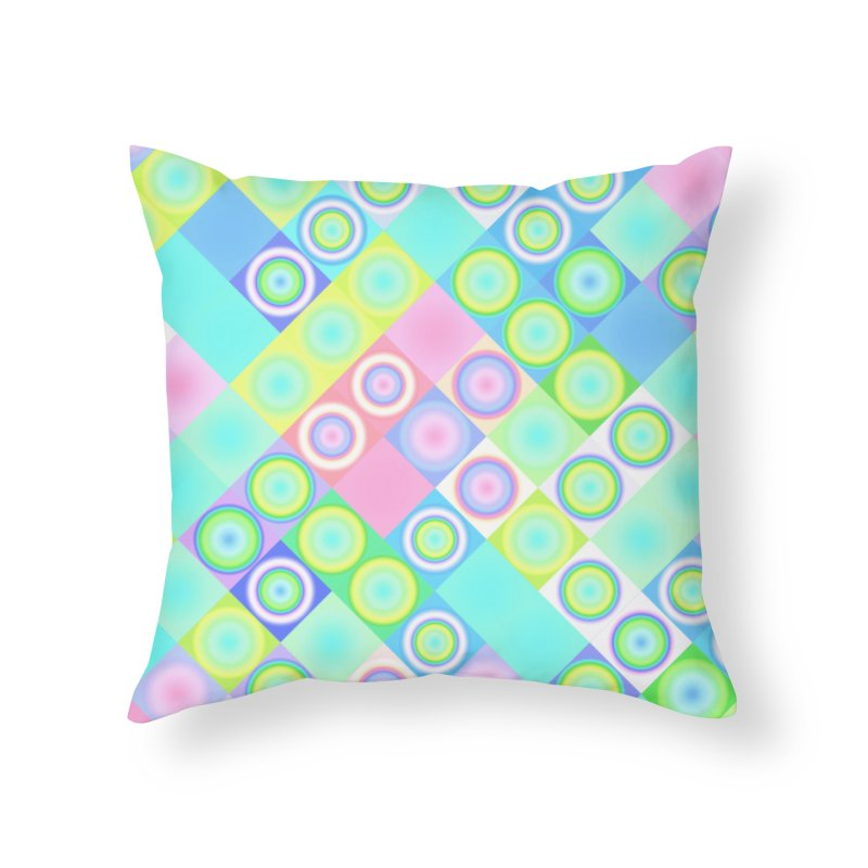 circles and squares Home Throw Pillow by Christy Leigh Creative
