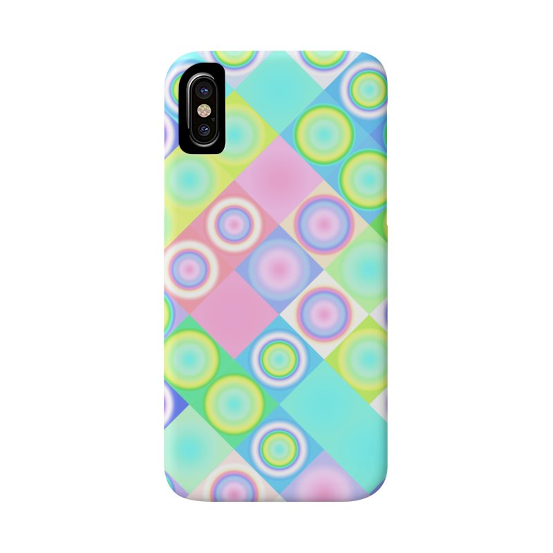 circles and squares Accessories Phone Case by Christy Leigh Creative