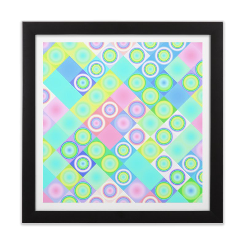 circles and squares Home Framed Fine Art Print by Christy Leigh Creative