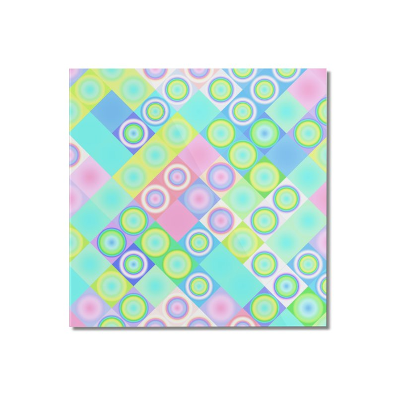 circles and squares Home Mounted Acrylic Print by Christy Leigh Creative
