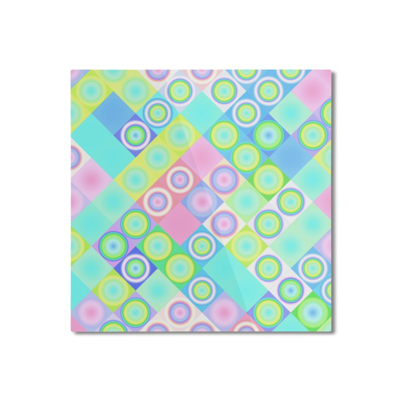 circles and squares Home Mounted Aluminum Print by Christy Leigh Creative