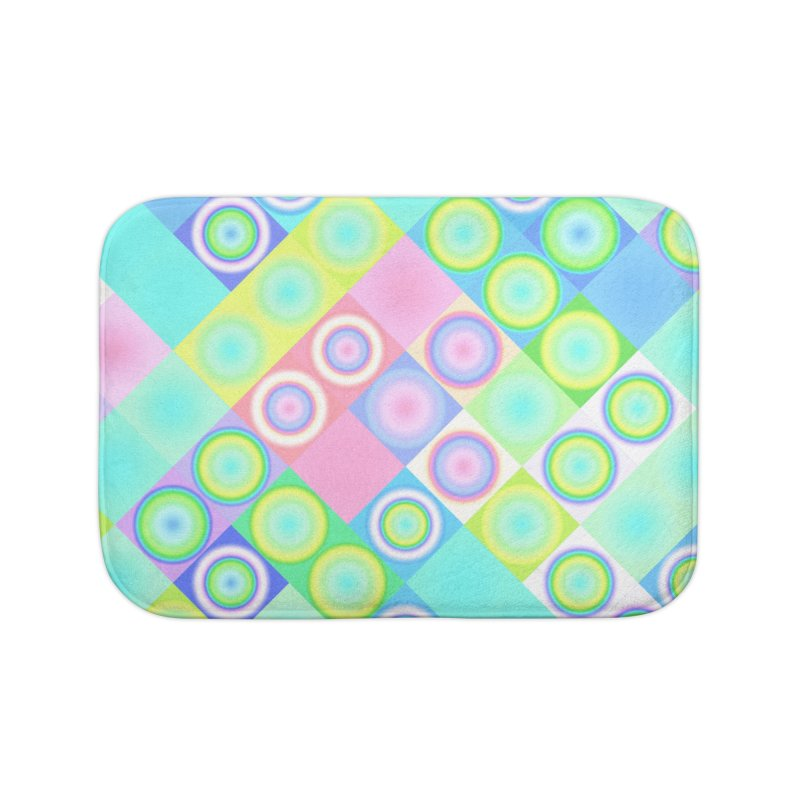 circles and squares Home Bath Mat by Christy Leigh Creative