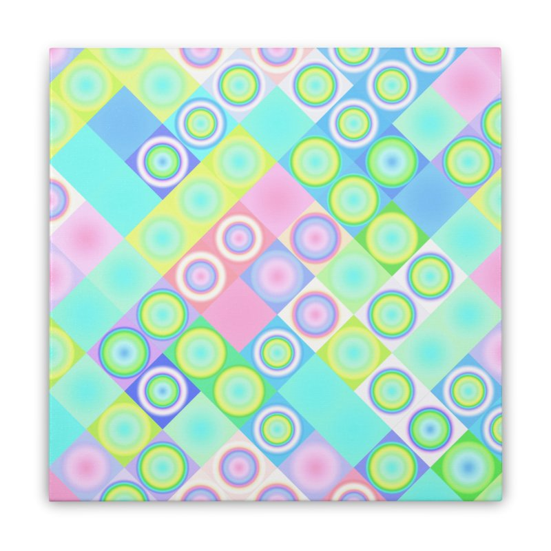 circles and squares Home Stretched Canvas by Christy Leigh Creative