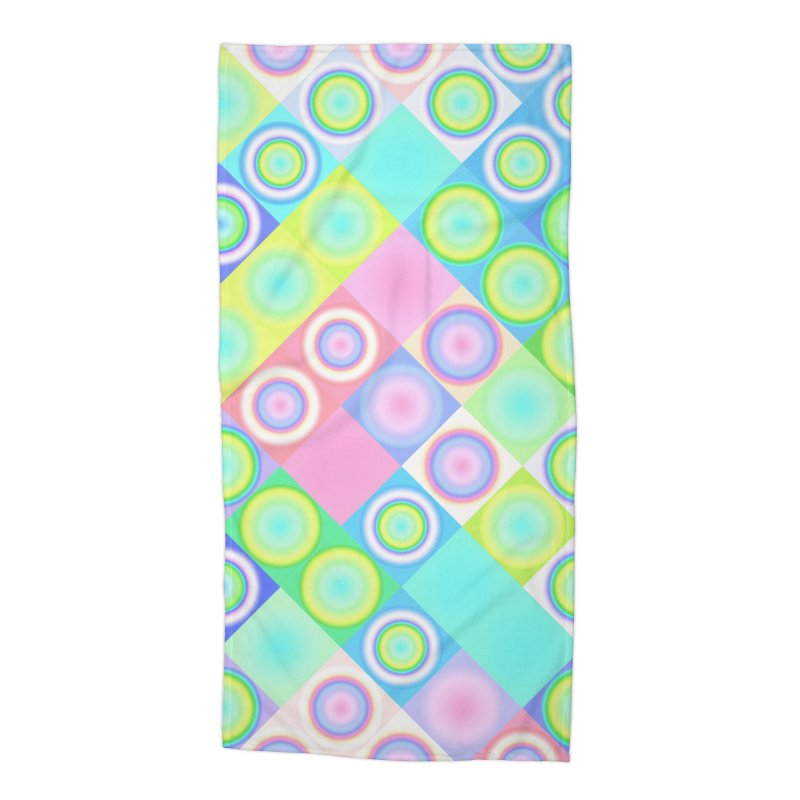 circles and squares Accessories Beach Towel by Christy Leigh Creative