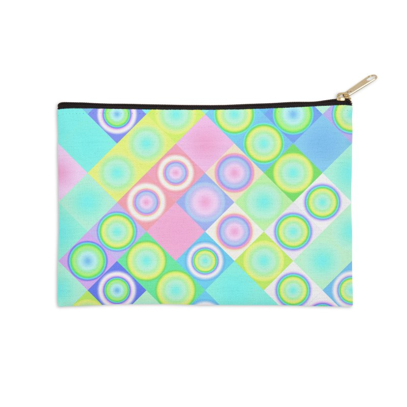 circles and squares Accessories Zip Pouch by Christy Leigh Creative