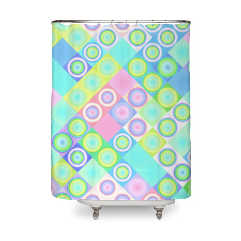circles and squares Home Shower Curtain by Christy Leigh Creative