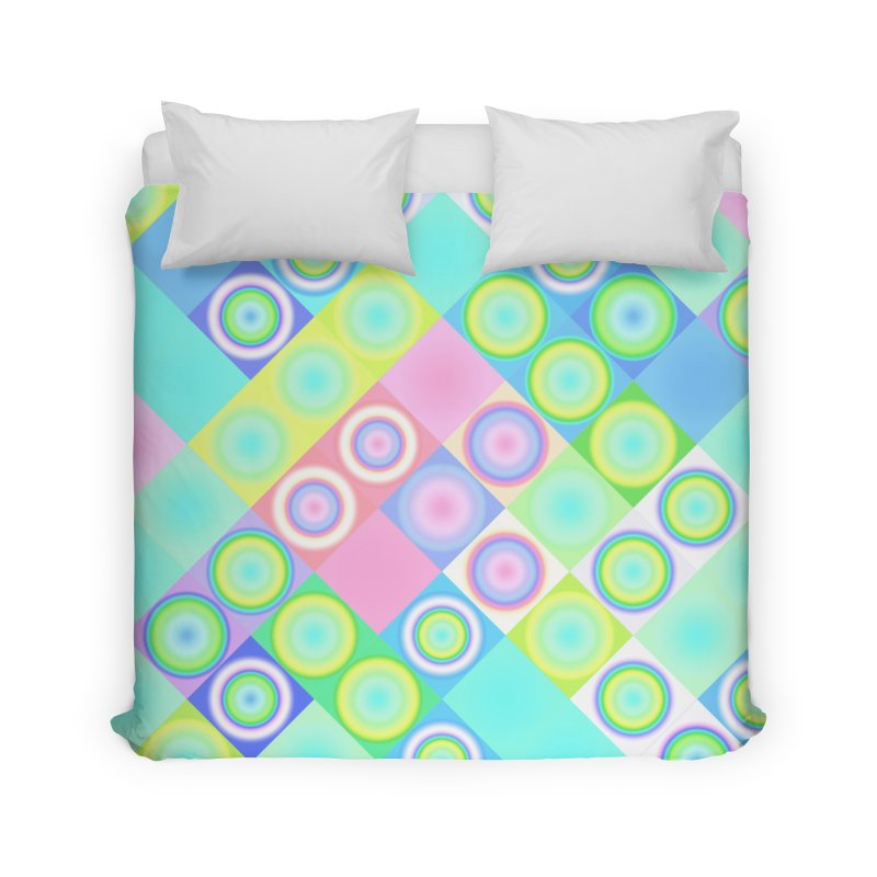 circles and squares Home Duvet by Christy Leigh Creative