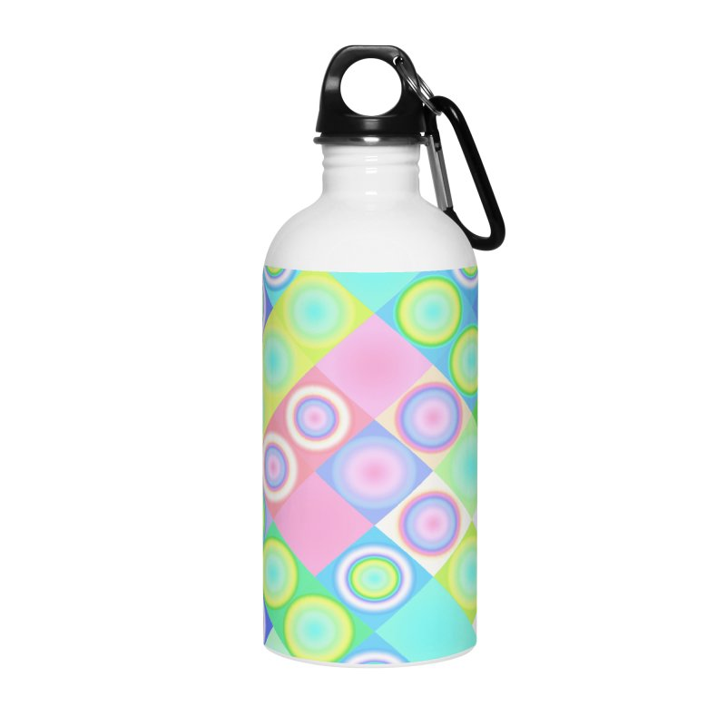 circles and squares Accessories Water Bottle by Christy Leigh Creative