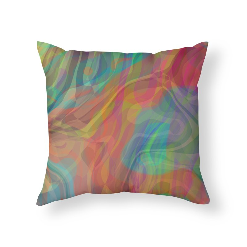 Fire and Ice Home Throw Pillow by Christy Leigh Creative