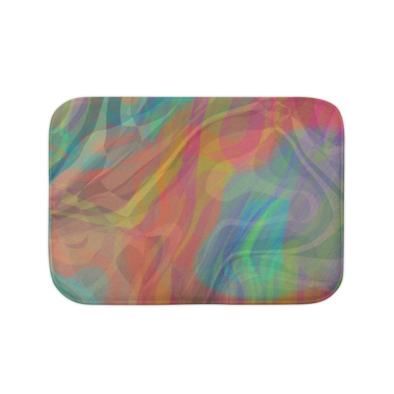 Fire and Ice Home Bath Mat by Christy Leigh Creative