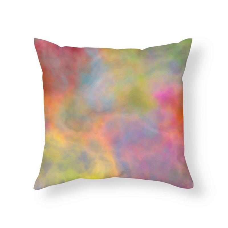 Rainbow Sky Home Throw Pillow by Christy Leigh Creative