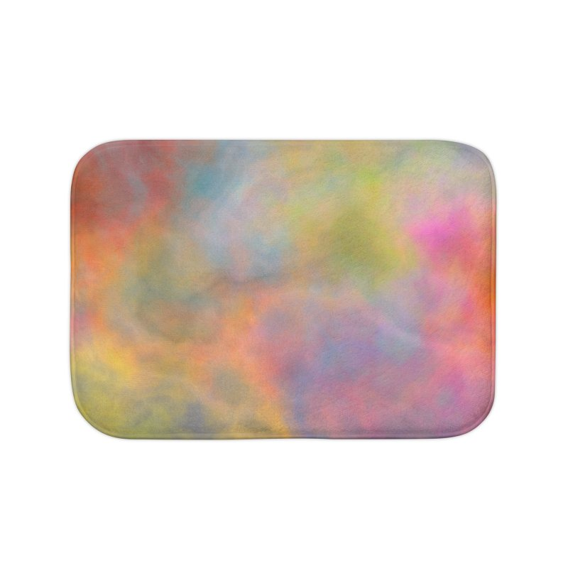 Rainbow Sky Home Bath Mat by Christy Leigh Creative
