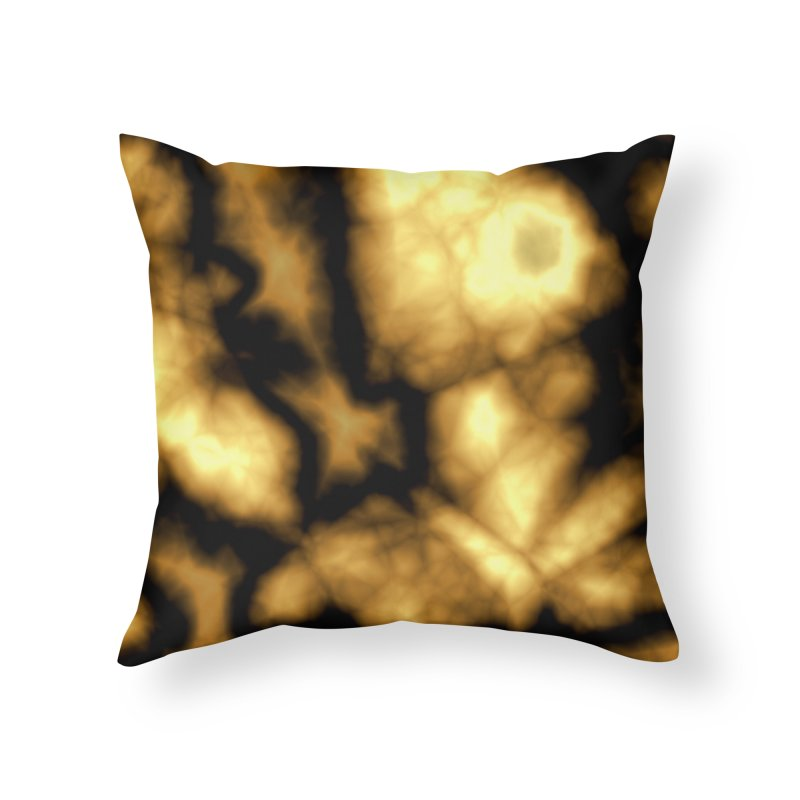Gold and Black Home Throw Pillow by Christy Leigh Creative