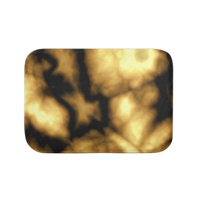Gold and Black Home Bath Mat by Christy Leigh Creative