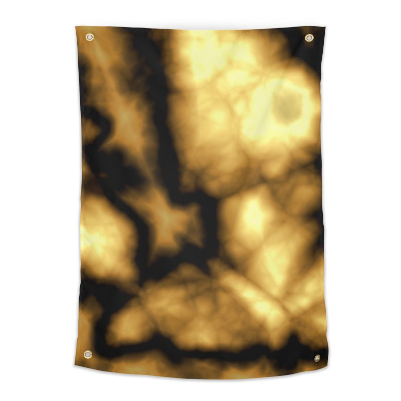 Gold and Black Home Tapestry by Christy Leigh Creative