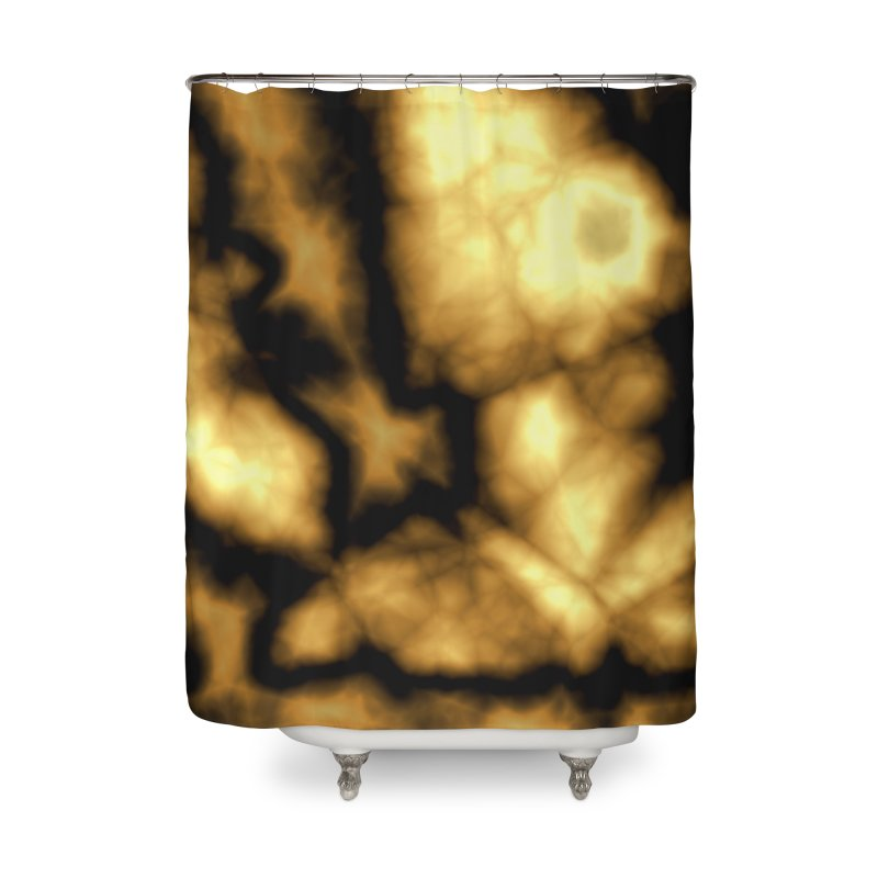 Gold and Black Home Shower Curtain by Christy Leigh Creative