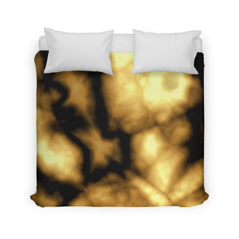 Gold and Black Home Duvet by Christy Leigh Creative