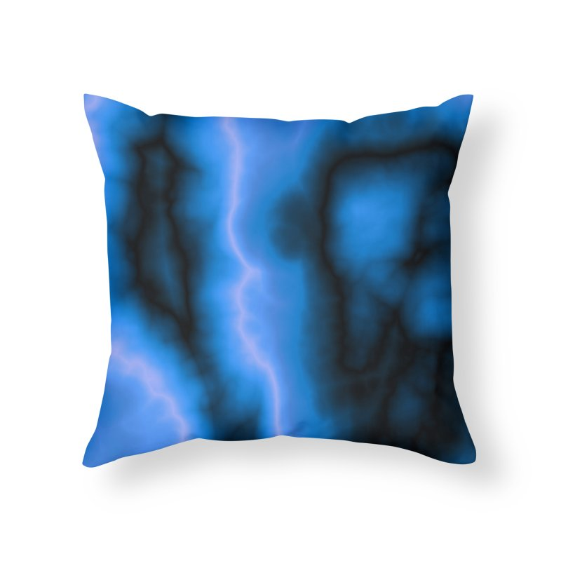 Lightning in the Sky Home Throw Pillow by Christy Leigh Creative