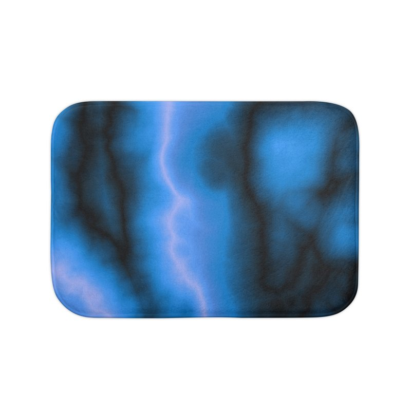 Lightning in the Sky Home Bath Mat by Christy Leigh Creative