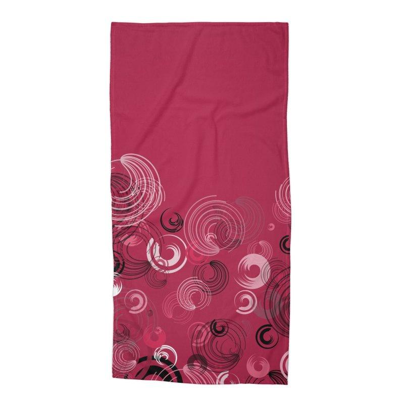 Crimson Swirl Crimson Accessories Beach Towel by Christy Leigh Creative