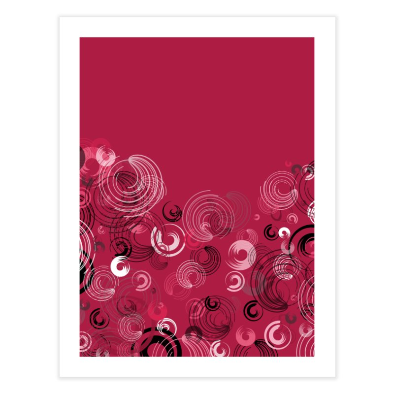 Crimson Swirl Crimson Home Fine Art Print by Christy Leigh Creative