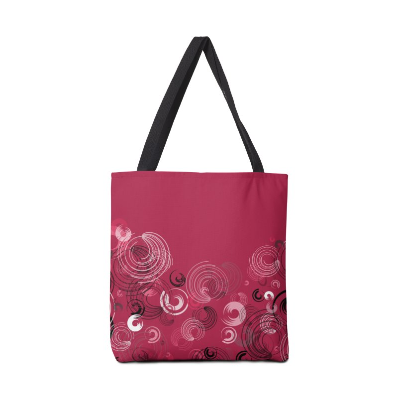 Crimson Swirl Crimson Accessories Bag by Christy Leigh Creative