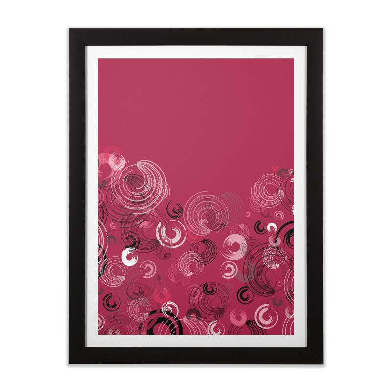 Crimson Swirl Crimson Home Framed Fine Art Print by Christy Leigh Creative