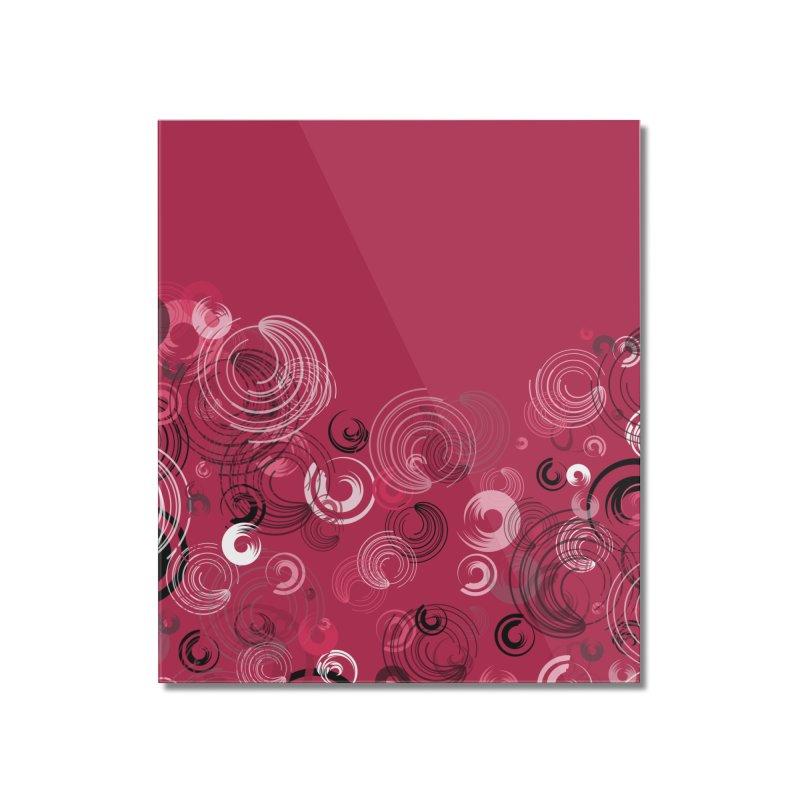 Crimson Swirl Crimson Home Mounted Acrylic Print by Christy Leigh Creative