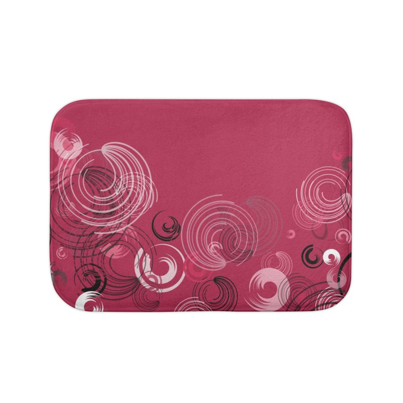 Crimson Swirl Crimson Home Bath Mat by Christy Leigh Creative
