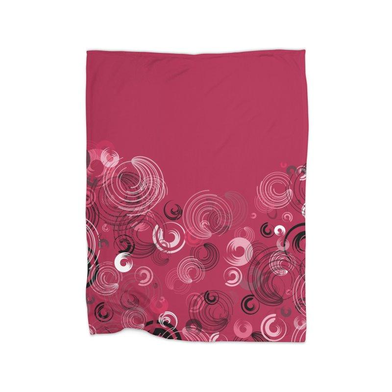 Crimson Swirl Crimson Home Blanket by Christy Leigh Creative