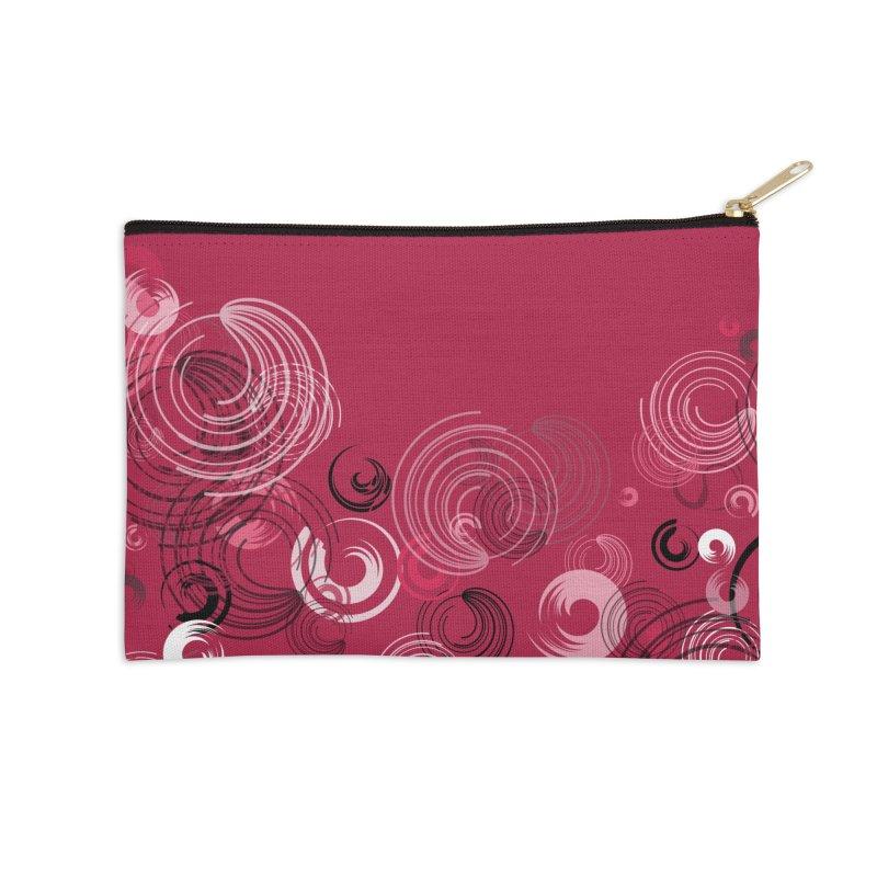 Crimson Swirl Crimson Accessories Zip Pouch by Christy Leigh Creative