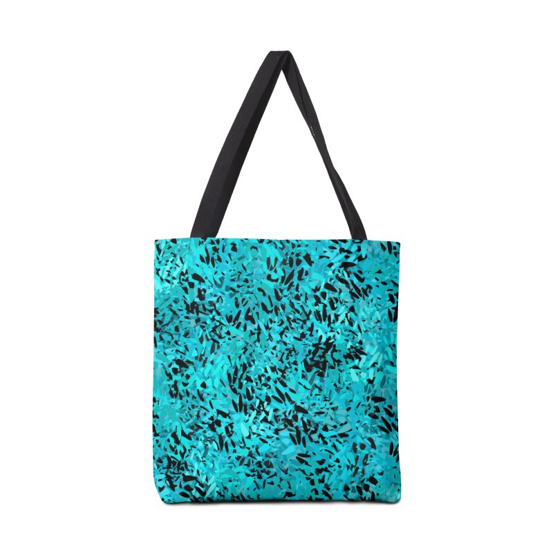 Turquoise and Black Abstract Accessories Bag by Christy Leigh Creative