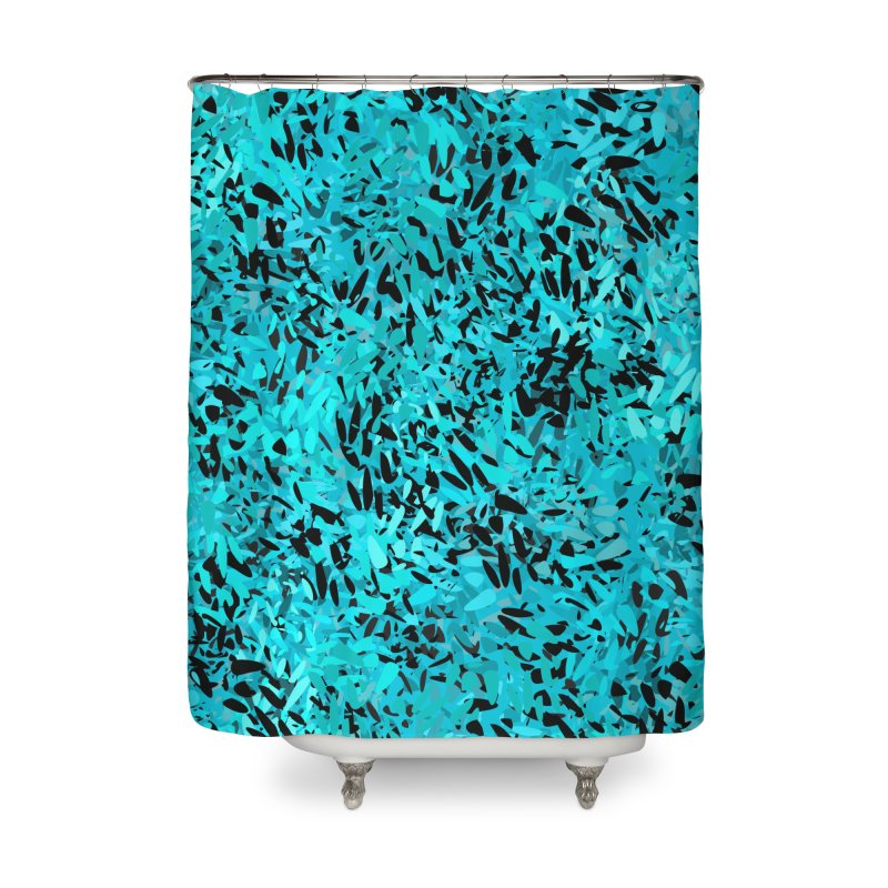 Turquoise and Black Abstract Home Shower Curtain by Christy Leigh Creative