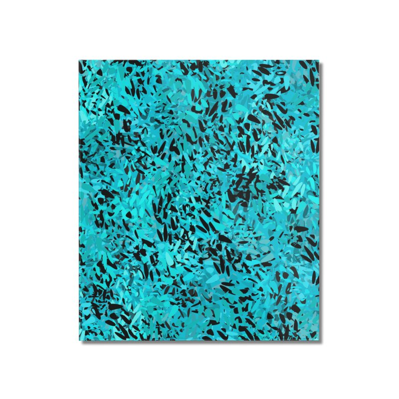 Turquoise and Black Abstract Home Mounted Acrylic Print by Christy Leigh Creative