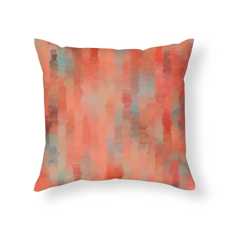 Coral Mirage Home Throw Pillow by Christy Leigh Creative