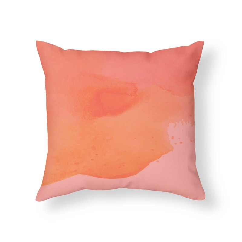 Coral Kiss Home Throw Pillow by Christy Leigh Creative
