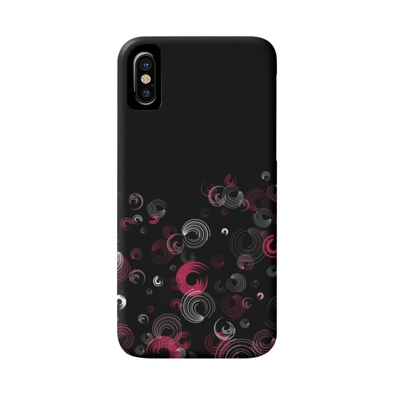 Crimson Swirl Black Accessories Phone Case by Christy Leigh Creative