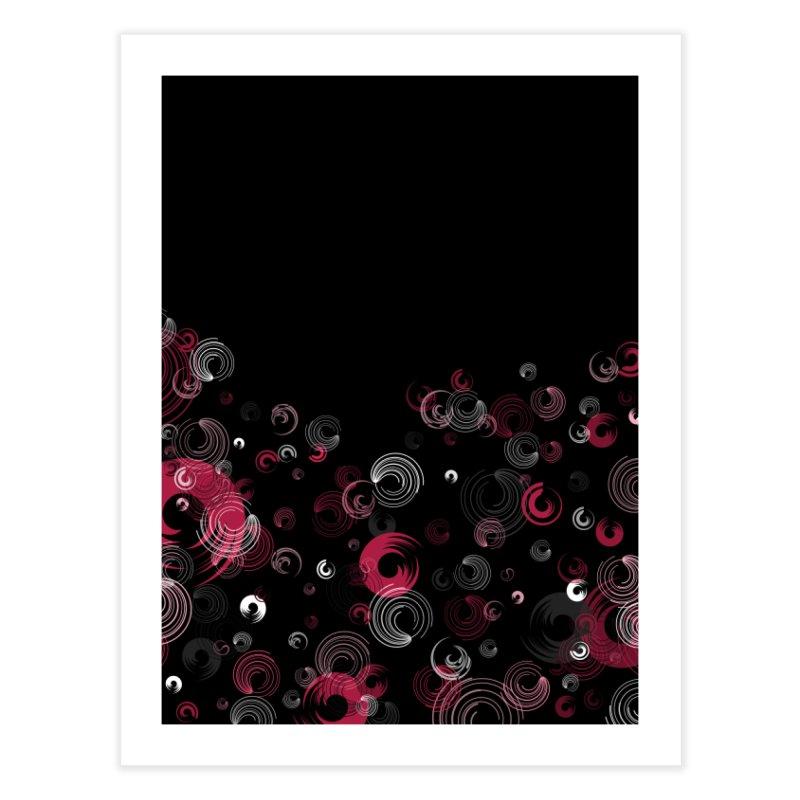 Crimson Swirl Black Home Fine Art Print by Christy Leigh Creative