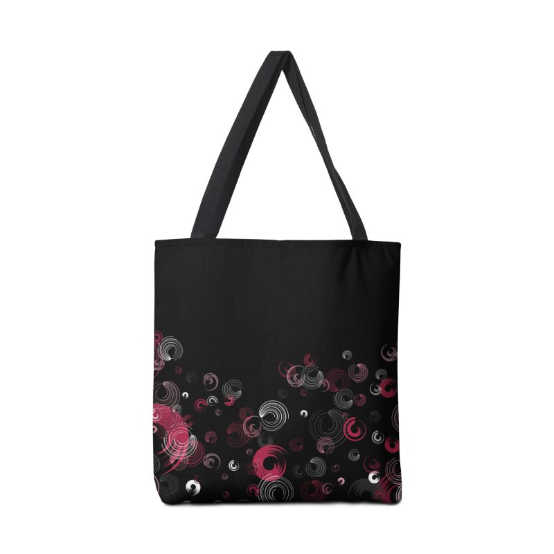 Crimson Swirl Black Accessories Bag by Christy Leigh Creative