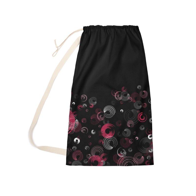 Crimson Swirl Black Accessories Bag by Christy Leigh Creative