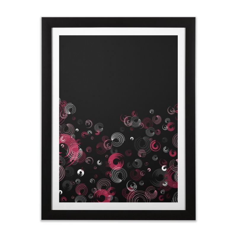 Crimson Swirl Black Home Framed Fine Art Print by Christy Leigh Creative