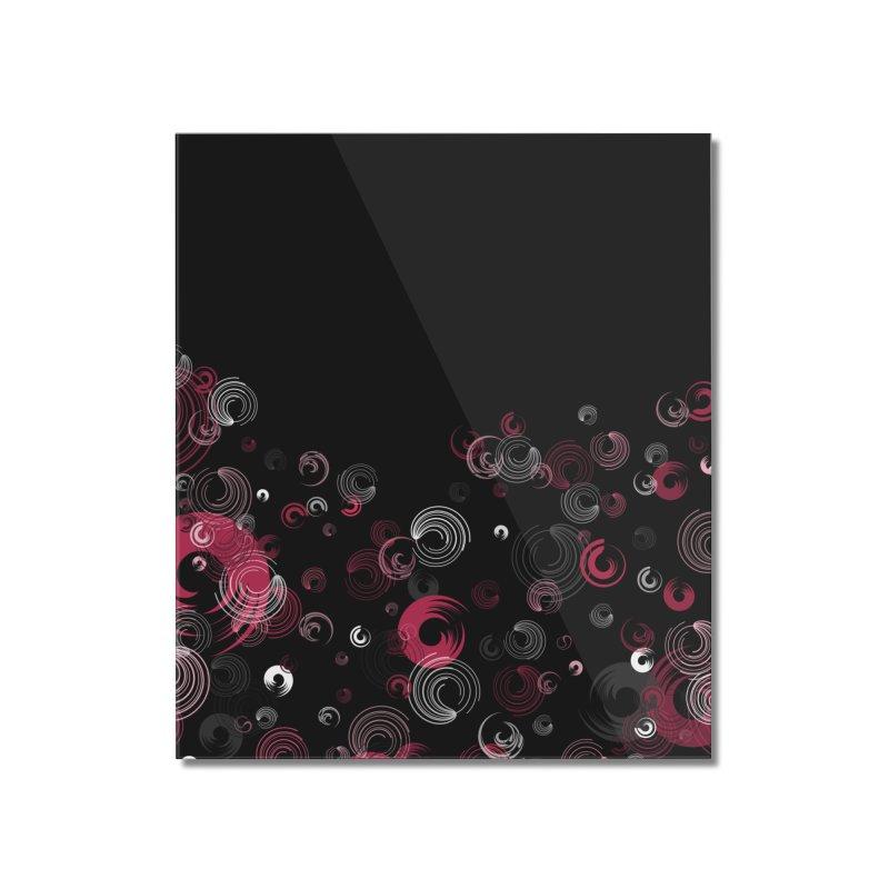 Crimson Swirl Black Home Mounted Acrylic Print by Christy Leigh Creative