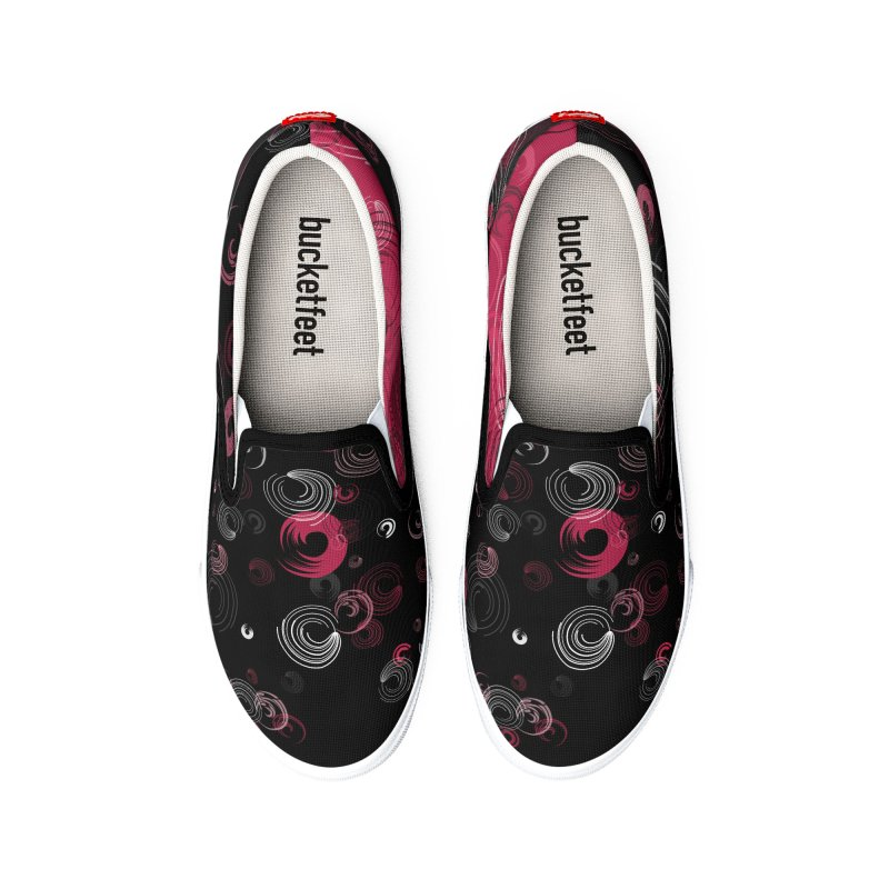 Crimson Swirl Black Men's Shoes by Christy Leigh Creative