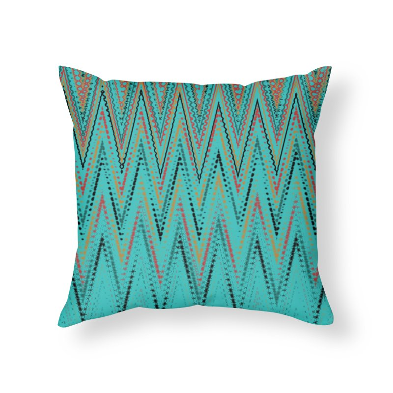 Native Wave Home Throw Pillow by Christy Leigh Creative