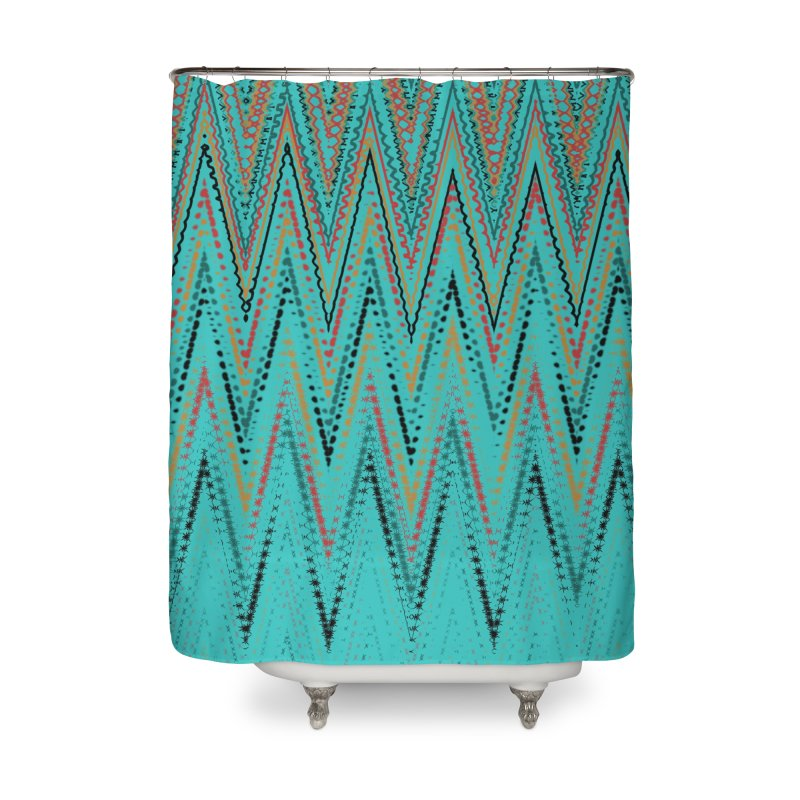 Native Wave Home Shower Curtain by Christy Leigh Creative